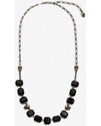 Alexander McQueen - Halskette mit Skulls und Steinen - Lyst
