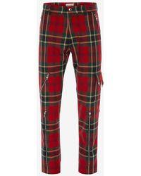 Alexander McQueen Tartan Punk Pants - Red