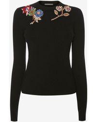 Alexander McQueen - Embroidered Wool Jumper - Lyst