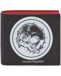Alexander McQueen - Portafoglio Badge Skull - Lyst