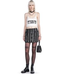Alexander Wang - Cropped Tank Top With Girls Embroidery - Lyst