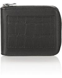 Alexander Wang - Croc Embossed Zipped Bi-fold Wallet - Lyst