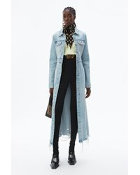 Alexander Wang - Fitted Denim Trench Coat - Lyst
