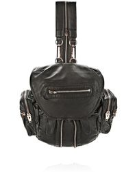 Alexander Wang - Mini Marti Backpack In Washed Black With Rose Gold - Lyst