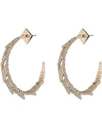 Alexis Bittar - Crystal Encrusted Spiked Lattice Hoop Earring - Lyst