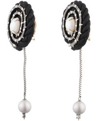 Alexis Bittar - Pearl Studded Coil Cord Clip Earring - Lyst