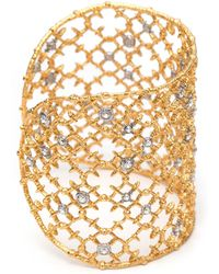 Alexis Bittar - Muse D'ore Gold Crystal Studded Spur Lace Cuff You Might Also Like - Lyst