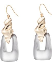 Alexis Bittar - Crumpled Gold Drop Wire Earring - Lyst