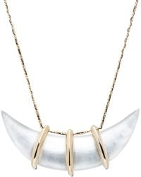 Alexis Bittar - Crystal-Studded Scalloped Bib Necklace - Lyst