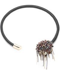 Alexis Bittar - Flexible Leather Collar Necklace - Lyst