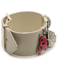 Alexis Bittar - Fruit Studded Leather Bracelet You Might Also Like - Lyst