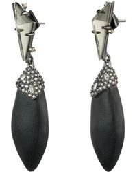 Alexis Bittar - Crystal Encrusted Stone Post Drop Earring - Lyst