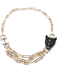 Alexis Bittar - Crystal Encrusted Panther Chain Link Necklace You Might Also Like - Lyst