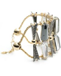 Alexis Bittar - Crystal Encrusted Fancy Shield Soft Bracelet You Might Also Like - Lyst