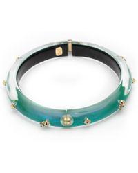 Alexis Bittar - Golden Studded Hinge Bangle Bracelet You Might Also Like - Lyst