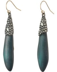 Alexis Bittar - Crystal Encrusted Capped Wire Earring - Lyst