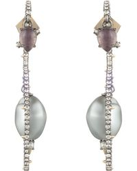 Alexis Bittar - Crystal Encrusted Stone Coil Post Earring - Lyst