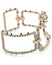 Alexis Bittar - Crystal Encrusted Oversize Link Cuff Bracelet You Might Also Like - Lyst