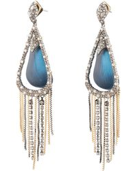 Alexis Bittar - Crystal Encrusted Tassel Chain Post Earring - Lyst