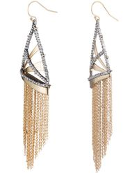 Alexis Bittar - Crystal Encrusted Plaid Fringe Earring You Might Also Like - Lyst