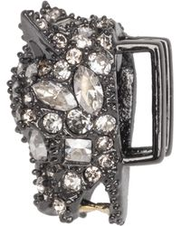 Alexis Bittar - Gunmetal Tone Pave Panther Slide You Might Also Like - Lyst