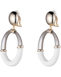 Alexis Bittar - Liquid Gold With Matte White Assymetrical Dangling Post Earring You Might Also Like - Lyst