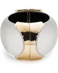Alexis Bittar - Large Dome Hinge Crystal Accent Bracelet You Might Also Like - Lyst