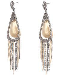 Alexis Bittar - Crystal Encrusted Tassel Chain Post Earring - Lyst