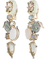 Alexis Bittar - Crystal Encrusted Lime Cluster Clip Earring You Might Also Like - Lyst