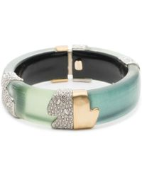 Alexis Bittar - Crystal Embellished Color Block Hinge Bracelet - Lyst