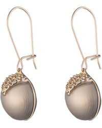 Alexis Bittar - Crystal Encrusted Origami Inlay Dangling Sphere Kidney Wire Earring - Lyst