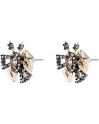 Alexis Bittar - Crystal Encrusted Brutalist Butterfly Stud Earring - Lyst