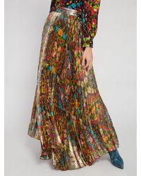 Alice + Olivia Katz Floral Pleated Maxi Skirt - Multicolour