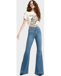 Alice + Olivia - Beautiful High Rise Bell Jean - Lyst