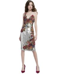 Alice + Olivia - Francie Sequin Cocktail Dress - Lyst fbbabea36