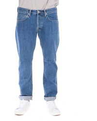 Edwin - Edwin Ed-55 Red Listed Selvage Denim Heavy Stone Dot - Lyst