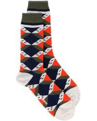 Henrik Vibskov - 'scott House' Socks Gray Wall - Lyst