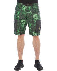 Stone Island - Alligator Camo Cotton - Nylon Shorts - Lyst