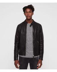 AllSaints - Cora Leather Jacket - Lyst