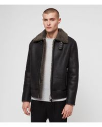 AllSaints - Lowell Shearling Jacket - Lyst