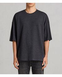 AllSaints - Torny Short Sleeve Crew Sweatshirt - Lyst