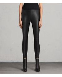 AllSaints - Isla Faux Leather Leggings - Lyst
