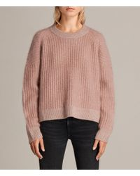 AllSaints - Ade Cropped Jumper - Lyst