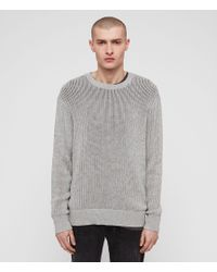 c61f28b88be03 Lyst - AllSaints Riviera Crew Sweater in Gray for Men