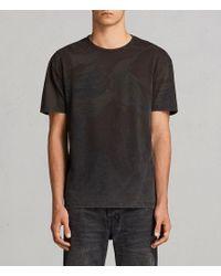 AllSaints - Contour Crew T-shirt - Lyst