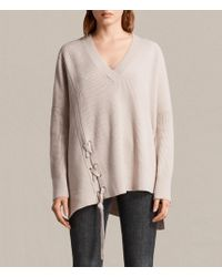 AllSaints - Able Laced Jumper - Lyst