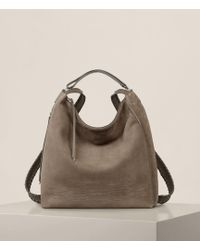 AllSaints - Cooper Leather Backpack - Lyst