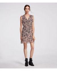 AllSaints - Priya Petal Dress - Lyst