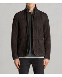 AllSaints | Survey Leather Blazer | Lyst
