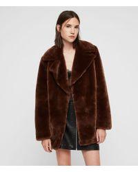 AllSaints - Amice Faux Fur Jacket - Lyst